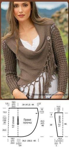 Image result for pattern for turning scarf into shrug