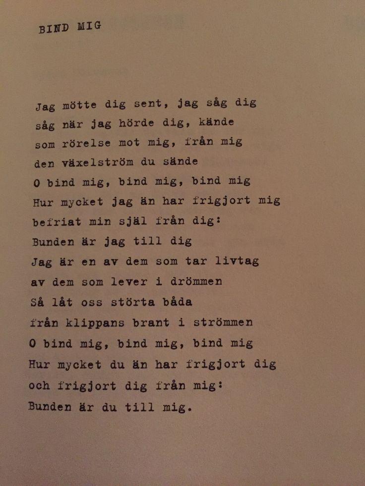 Gunnar Ekelöf - Bind mig