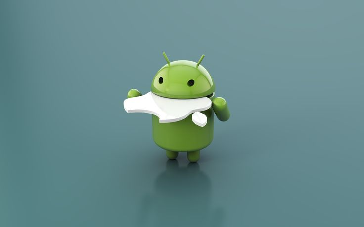 android eating apples wallpaper