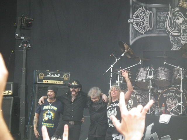 Phil Campbell & Lemmy Kilmister & Philthy Animal Taylor & Mikkey Dee . MOTORHEAD