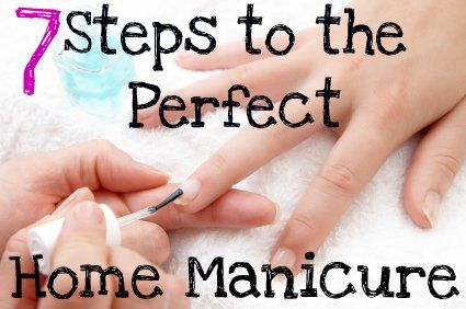 7 Steps for the Perfect Home Manicure  - - After watching sooo many youtube videos, here you have it DUN DUN DUN the best tips for doing a home manicure.  Skip cutting your cuticles people!