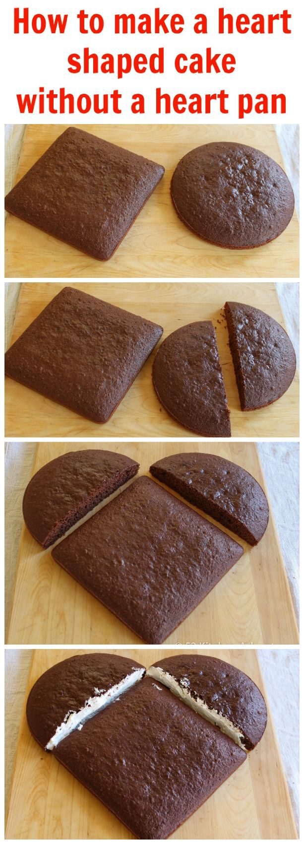 How to make a heart shaped cake without a heart pan                                                                                                                                                                                 Mais