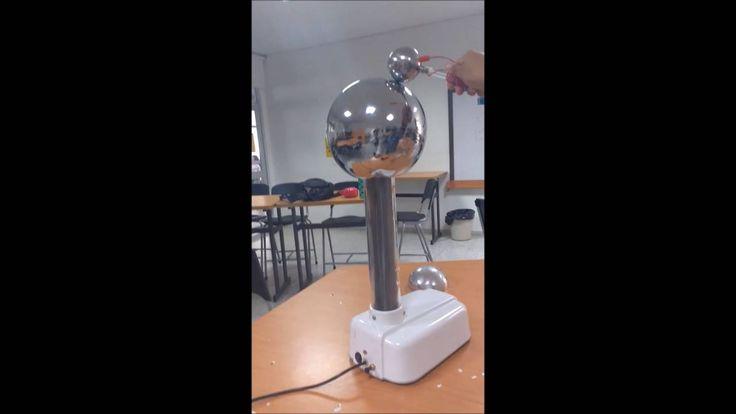 Estas son las situaciones en las que hubo CHISPA. Esto se debe a que dos objetos que están dentro del mismo campo eléctrico tienen uno carga positiva y el otro está neutro. Al ser cargadas por el generador de Van de Graaff el potencial eléctrico de las esferas aumenta ya que esto genera que su densidad de carga aumente. Así al acercar un cuerpo neutro, como lo es la persona, se transfieren, por medio de una chispa, electrones a las esferas con defecto buscando el equilibrio electrostático.