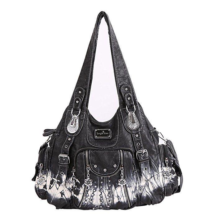 Handbags Washed Leather Purses Shoulder
