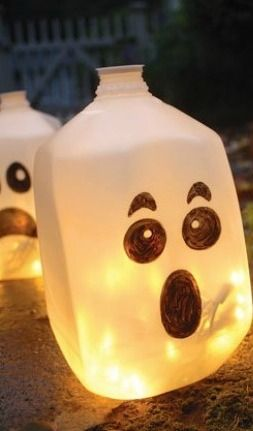 Milk Jug Ghosts Craft For Kids /babble.com