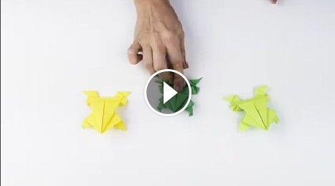 """Come realizzare una rana di carta origami, che salta veramente """"Video tutorial bambini"""""""