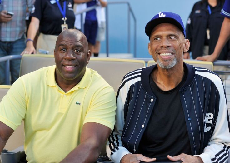 "Earvin ""Magic"" Johnson And Kareem Abdul-Jabbar 