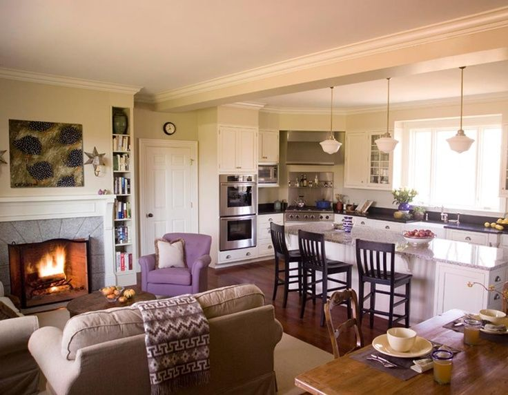 attractive Decorating Ideas For Open Living Room And Kitchen #2: Open Concept Kitchen Living Room Design Ideas