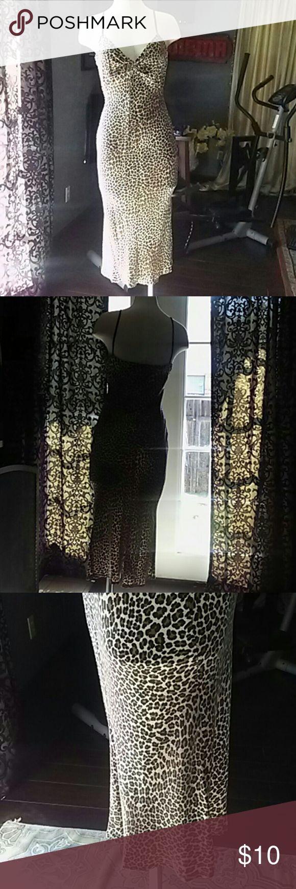 Women's Slip dress/Small Leopard print/River Island/petite River Island Dresses Maxi