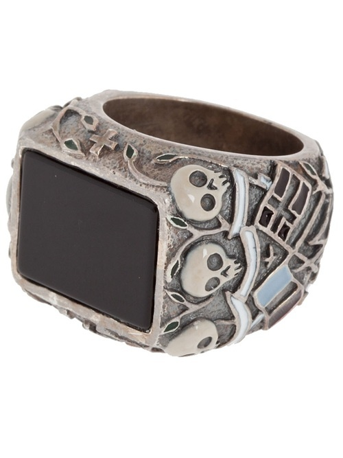 Tobias Wistisen Large Engraved Ring - L'Eclaireur Shop