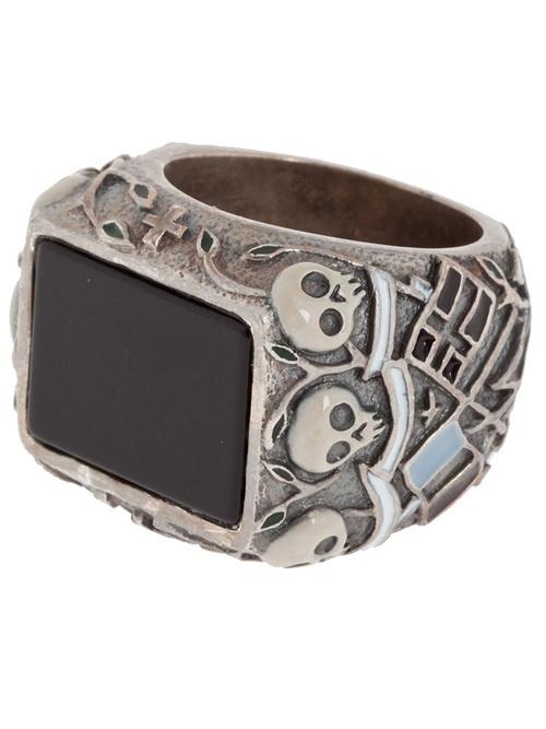 Tobias Wistisen Large Engraved Ring - L'Eclaireur Shop