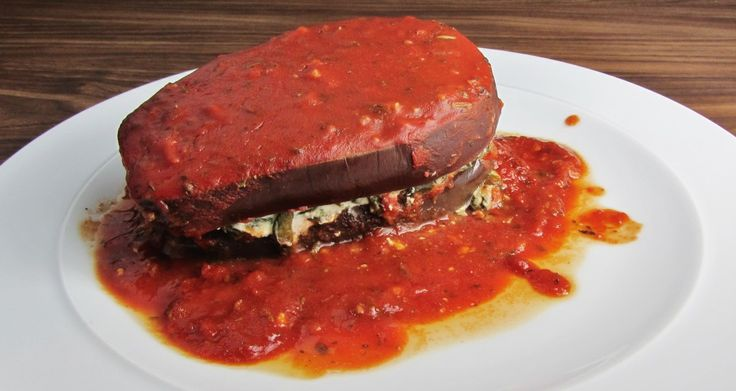 Slow Cooked Spinach and Ricotta Aubergine Stacks
