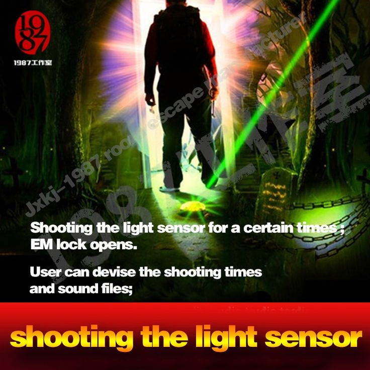 49.00$  Buy here - http://alint6.shopchina.info/go.php?t=32658236204 - live escapeReal life room escape prop takagism game intensive pulse light  hard light sensor shooting laser or torch to open ock  #magazine