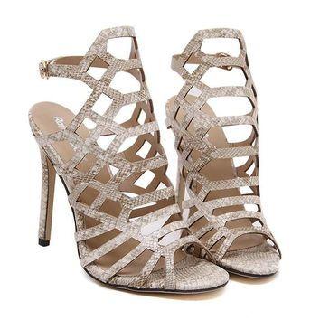 Thin Heels Buckle Strap Spring Sandals