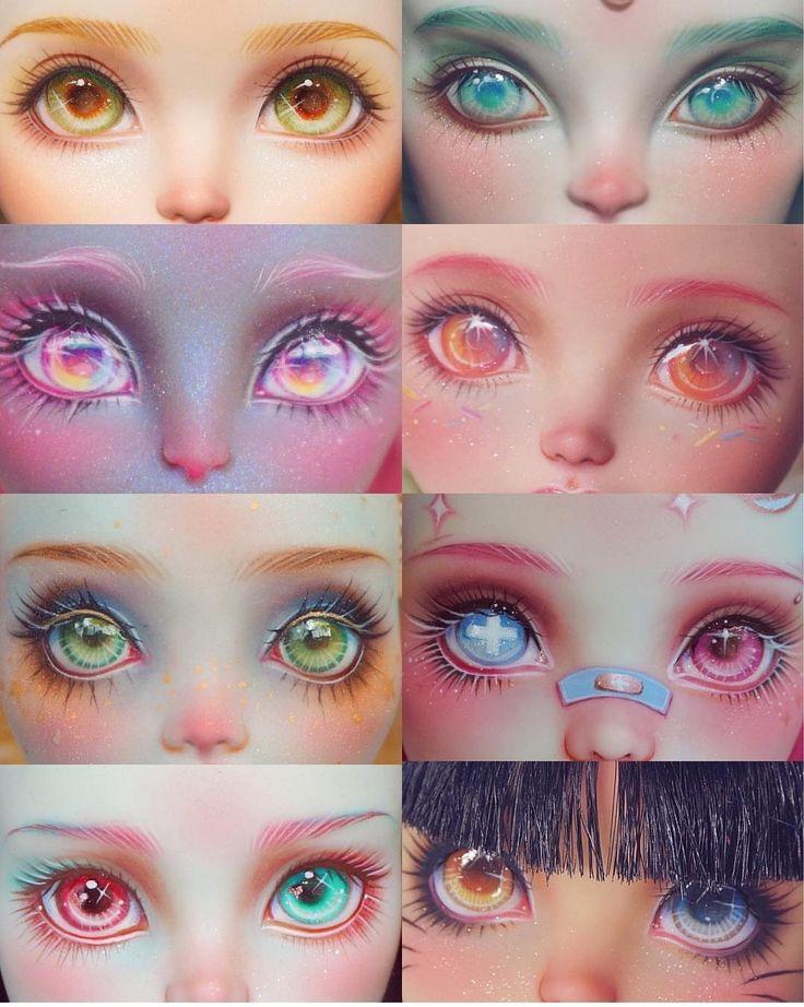 она играет нарисовать глаза для куклы картинки мысль, что