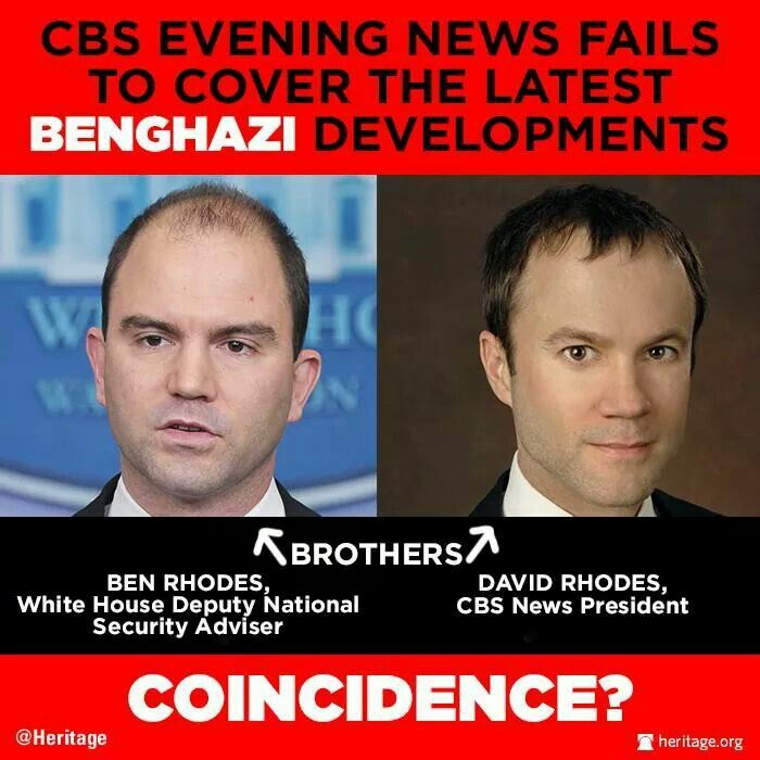 Benghazi - People need to know this!  Did Ben Rhodes get his job BECAUSE his brother is the president of CBS and thus could ensure favorable coverage?