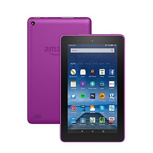 Fire Tablet 7 Display Wi-Fi 8 GB (Magenta)  Includes Special Offers Amazon Fire 7 Inch Tablet 8GB has a rating of above 4 stars and remains among the highest selling products online in Electronics category in UK. Click below to see its Availability and Price in YOUR country.