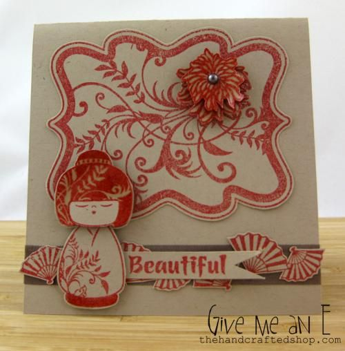 EM000014 Geisha Girl Beautiful Red