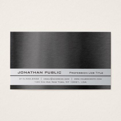 Modern Elegant Professional Silver Simple Plain Business Card - trendy gifts cool gift ideas customize