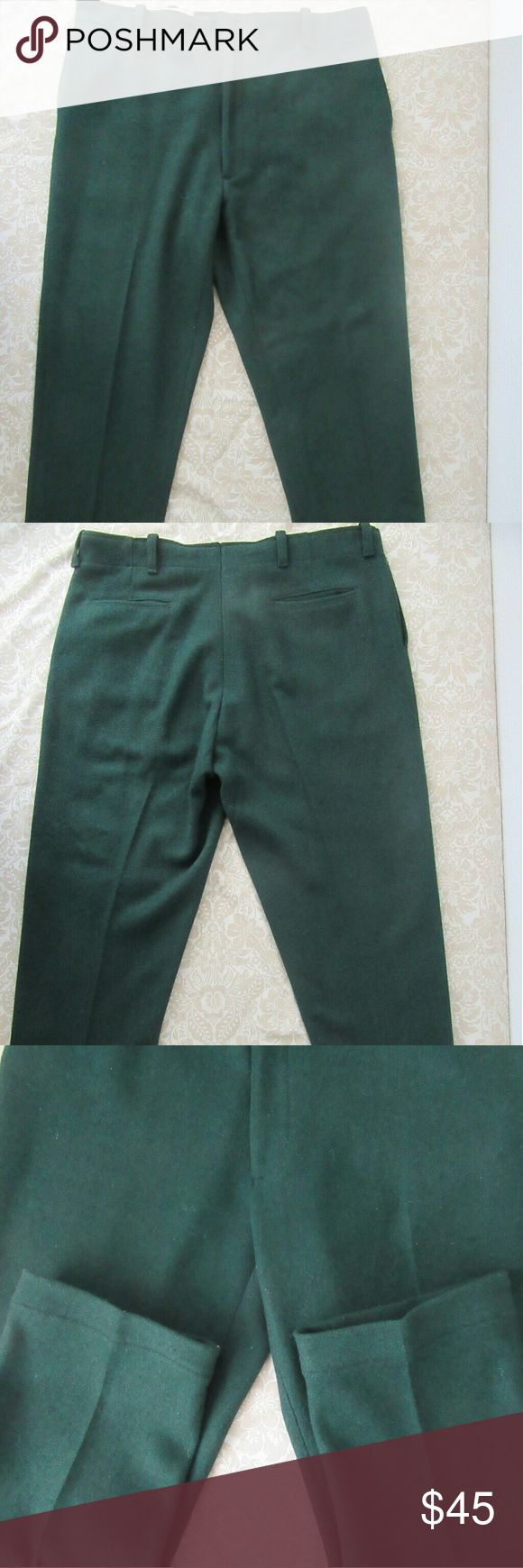 Northway Water Repellent Wool Hunting Pants 40x30 excellent shape  Northway Water Repellent Wool Hunting Pants Huge 40x30 Hunter Green?  ? northway Pants