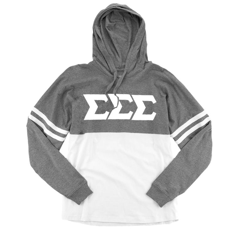 Now available Sigma Sigma Sigma... Shop http://manddsororitygifts.com/products/tri-sigma-hoodie-ls-sgl?utm_campaign=social_autopilot&utm_source=pin&utm_medium=pin