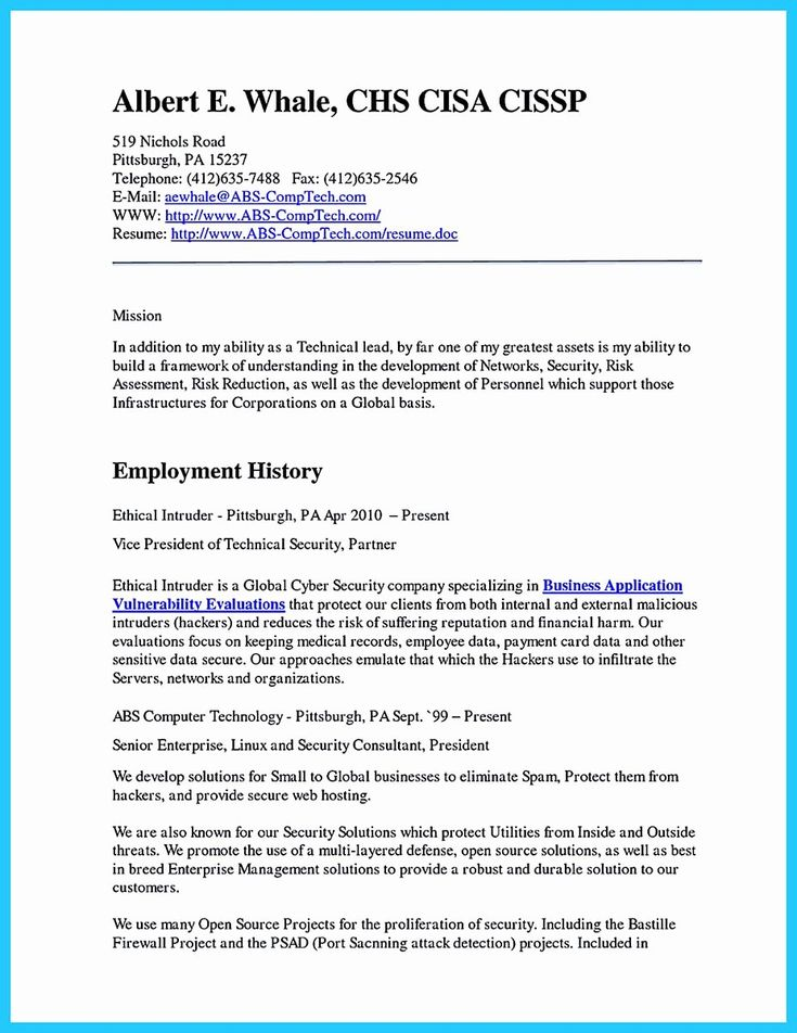 Cyber security resume example awesome powerful cyber