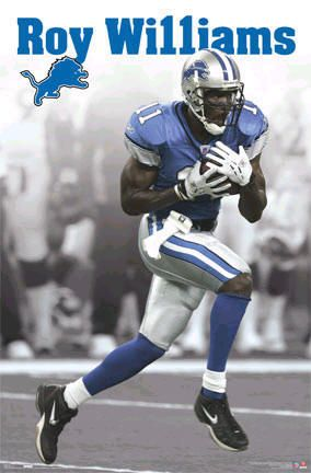 Detroit Lions Roy Williams NFL Football Sports Poster Posters