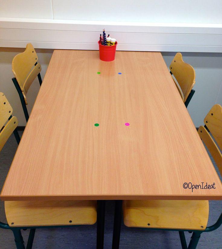 Tarrat ryhmässä oppilaiden pulpeteilla. Esim. siniset käsien pesulle ensimmäisenä. Punaiset hakemaan ryhmäläisilleen paperit jne.