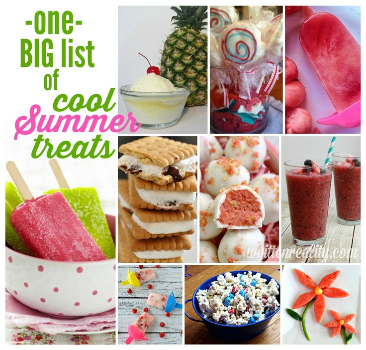 Beat the heat with these Cool Summer Treats! {writtenreality.com} #kids #recipes #summer