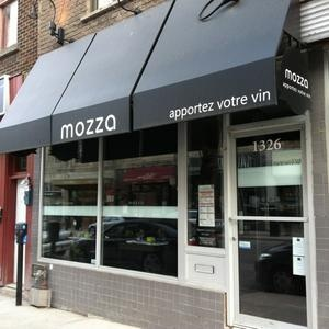 Mozza in Montreal: 1326 rue Ste-Catherine est.   Food was amazing and they have a bring your own wine (B.Y.O.W.) option.  The bathrooms are a treat.... made me want to dance. If you've been here that you will know what i'm talking about!