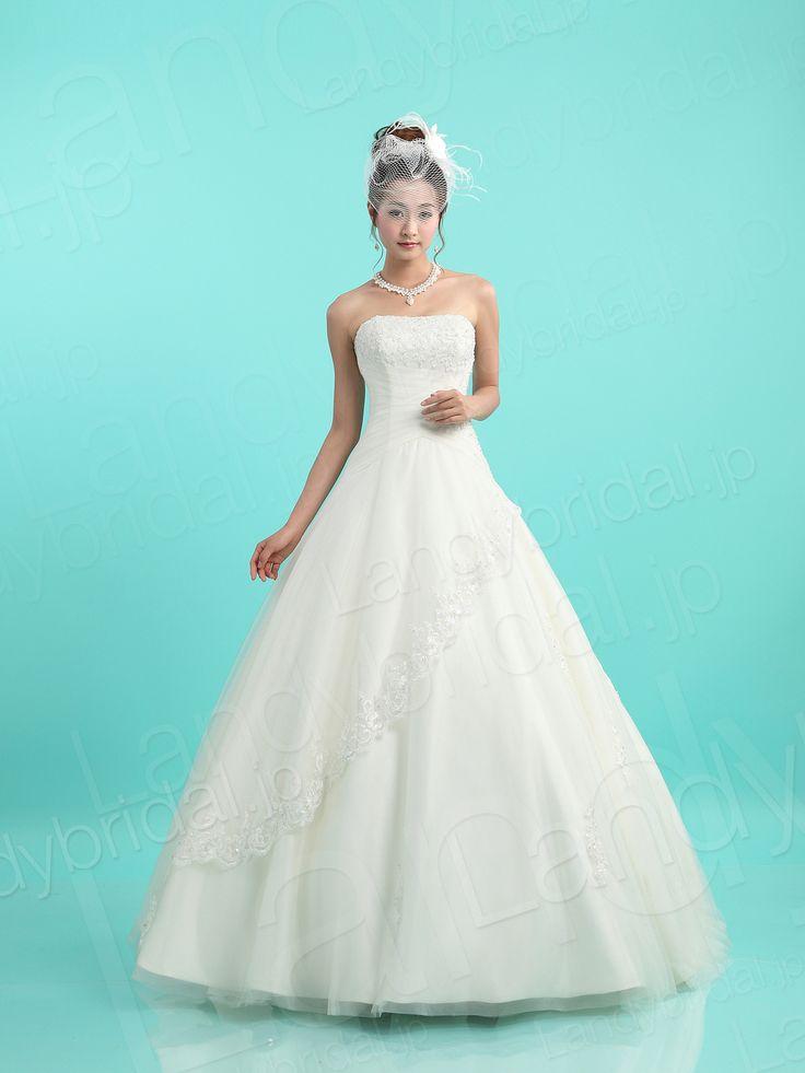 ランディブライダル ウェディングドレス Aラインドレス 格安 新品 既製品 花嫁ドレス ウェディング 結婚式 送料無料 ブライダル 0211511102
