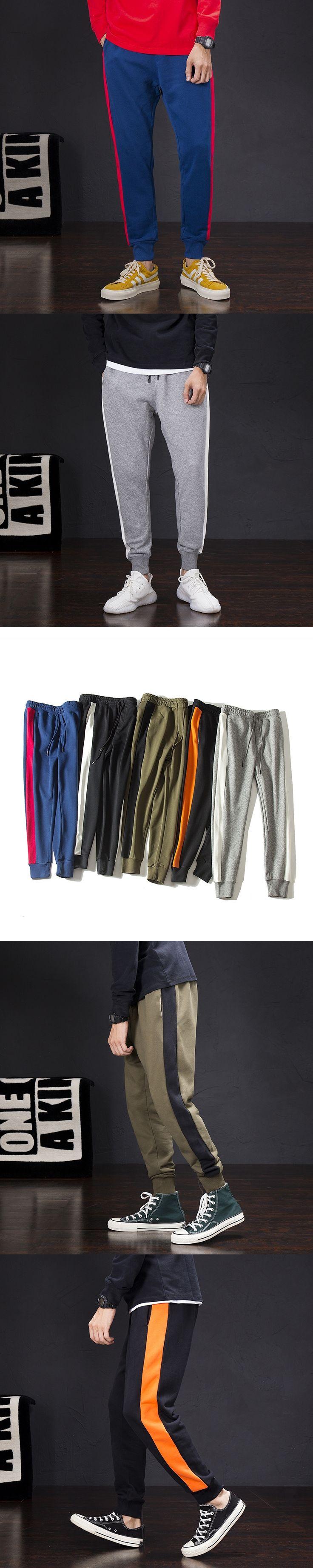 Autumn New Men Casual Cotton Pant Male Fashion Loose Full Length Harem Trousers Streetwear Joggers Sweatpants