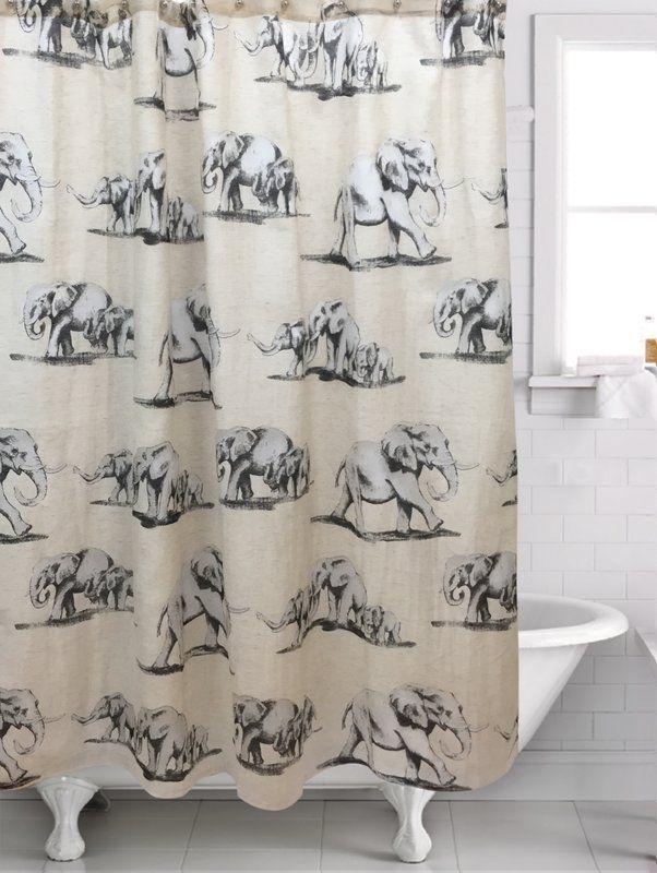 Bruthen Single Shower Curtain Elephant Shower Curtains Elephant Shower Curtains