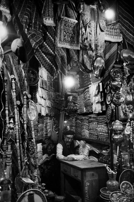 An old shopkeeper in the Covered bazaar, 1965, photo by Ara Güler (please repin with photographers credits)