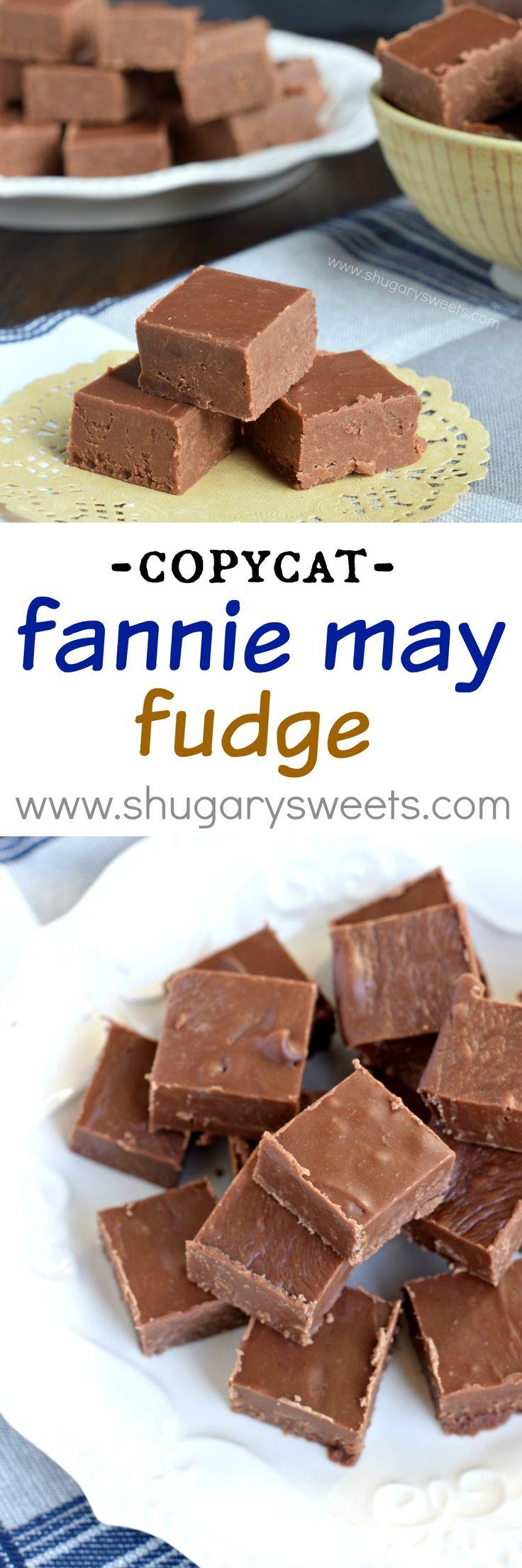 Rich, decadent, copycat Fannie May Fudge. It's the perfect chocolate fudge…