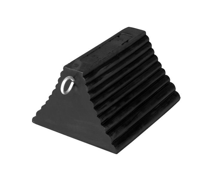 IWI 60-7204 68-9 E Rubber Wheel Chock Pyramid with Eye Hook
