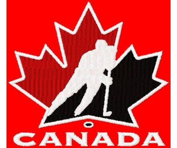 Canada hockey logo machine embroidery design for instant ...