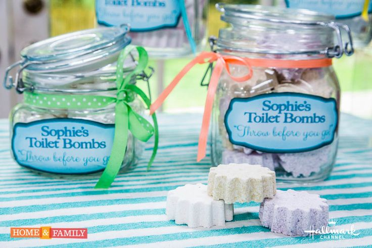 Keep your bathroom smelling fresh w/ @sophieuliano's DIY Bath Bombs! Catch #HomeandFamily weekdays at 10/9c on Hallmark Channel!