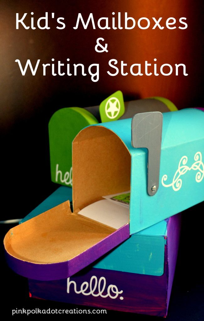 Kid's Mailboxes & Writing Station - Pink Polka Dot Creations
