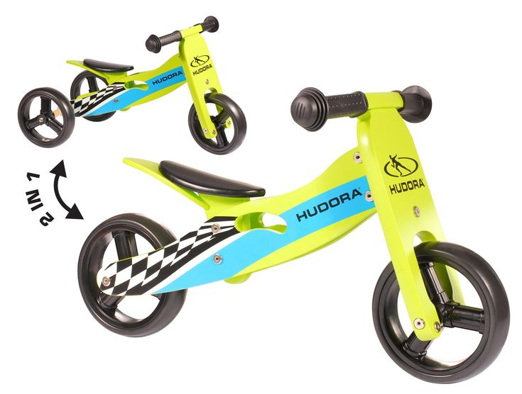 Hudora Wooden Balance Bike and Tricycle