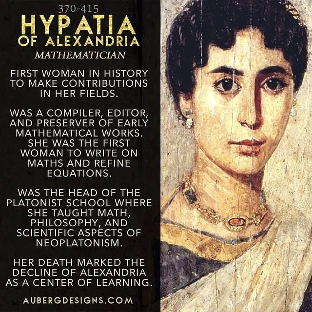 Hypatia of Alexandria mathematician Platonist school Neoplatonism