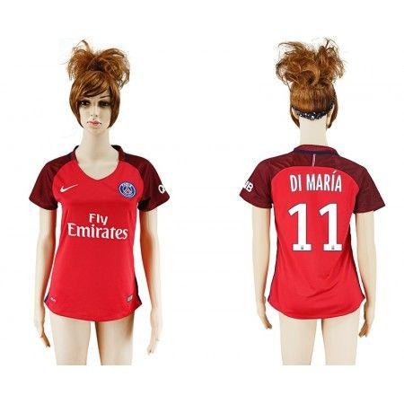 PSG Trøje Dame 16-17 Angel #Di Maria 11 Udebanetrøje Kort ærmer,208,58KR,shirtshopservice@gmail.com