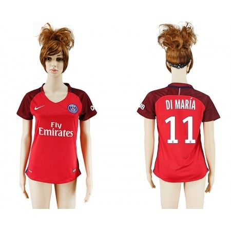 PSG Fotbollskläder Kvinnor 16-17 Angel #Di Maria 11 Bortatröja Kortärmad,259,28Kr,shirtshopservice@gmail.com