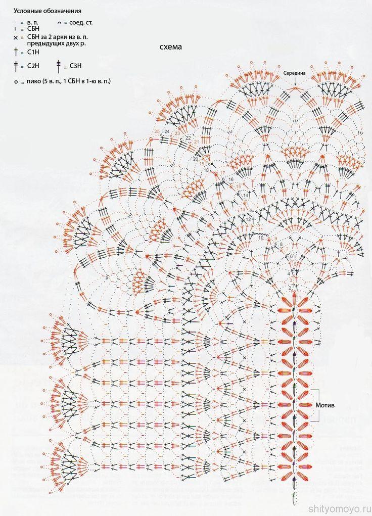 Схема вязания крючком белой