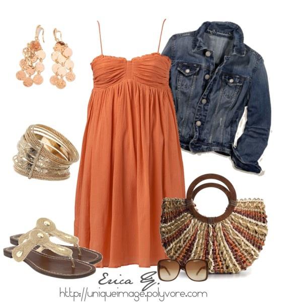 Cute Sun Dress: Summer Dresses, Jeans Jackets, Blue Jeans, Cute Summer Outfit, Jean Jackets, Denim Jackets, Sundresses, The Dresses, Sun Dresses