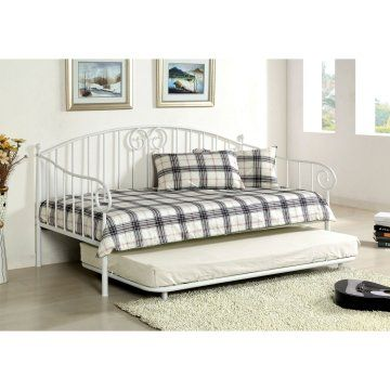 hampton traditional style metal daybed with trundle beds at hayneedle