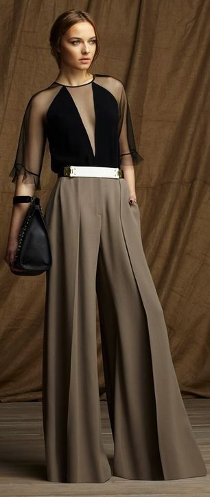 I love the palazzo pants but not so much the top or the weird belt buckle.  The pants rock though.