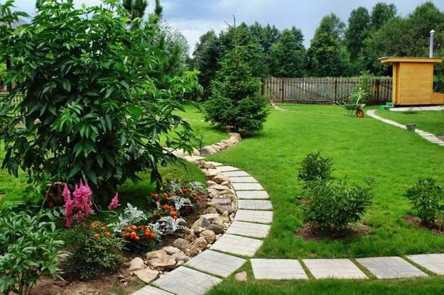 25 Yard Landscaping Ideas and Curvy Garden Path Designs to Feng Shui Home