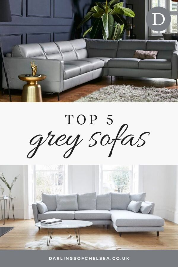 Top Five Modern Grey Corner Sofas Blog Darlings Of Chelsea In 2020 Leather Corner Sofa Living Room Grey Leather Sofa Living Room Chaise Sofa Living Room
