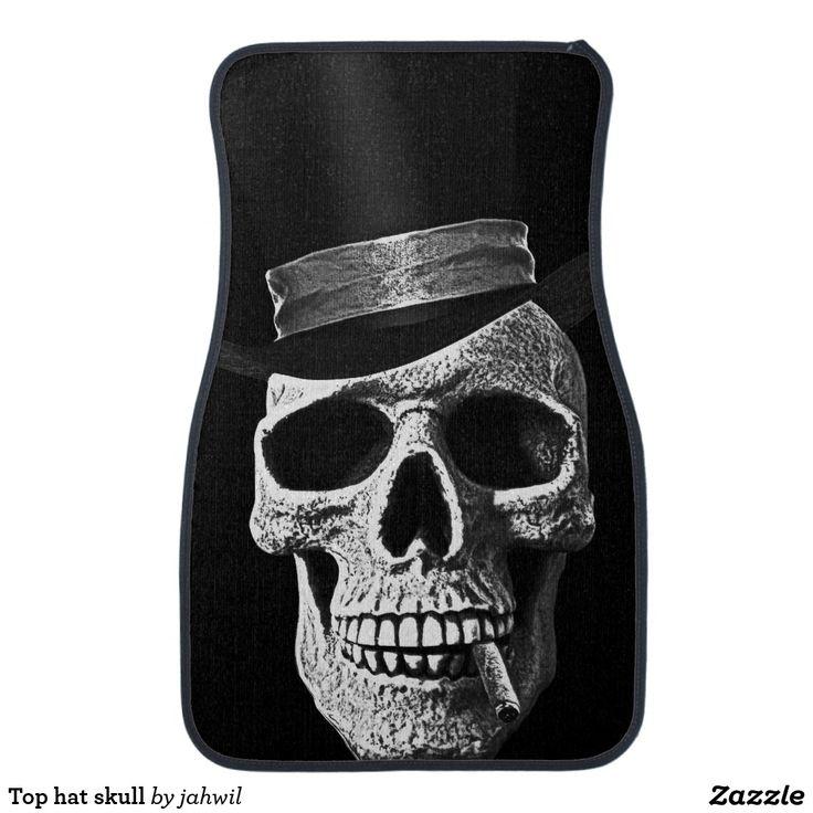 Top hat skull car floor mat Car floor mats